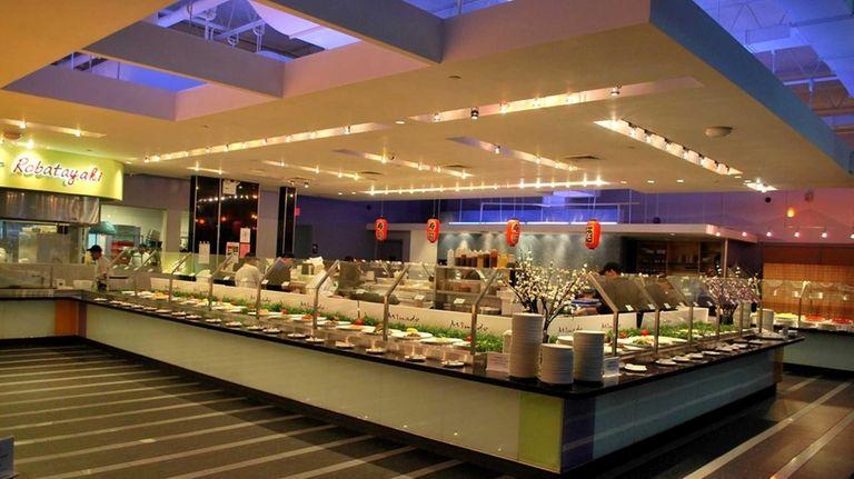 The inside of Minado, a buffet restaurant in