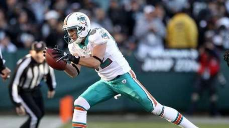 Brian Hartline #82 of the Miami Dolphins