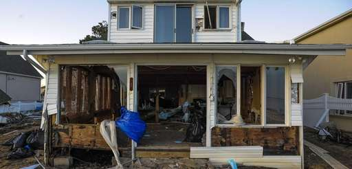 Superstorm Sandy damaged several homes at the end