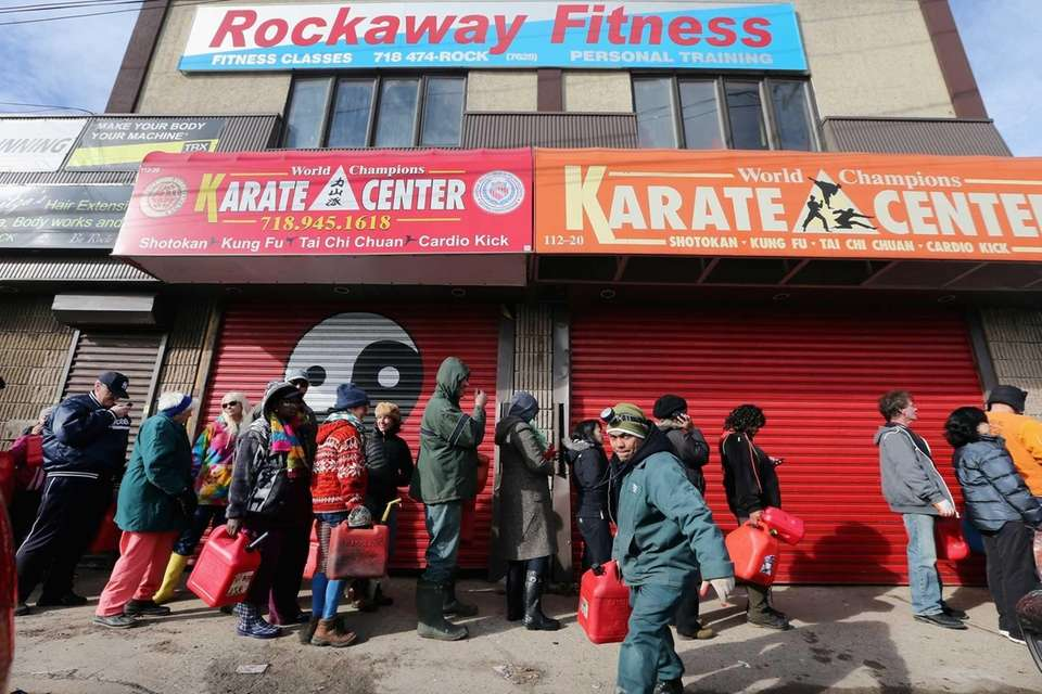 Residents in Rockaway, a Queens neighborhood hard-hit by
