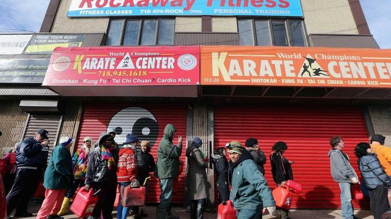 Residents in Rockaway, a Queens neighborhood hard-hit by