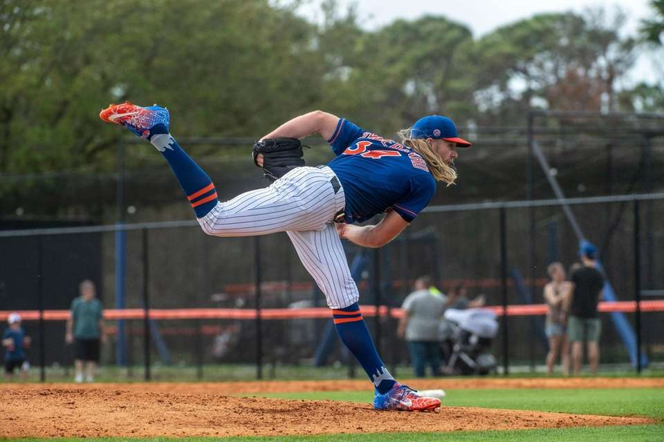 New York Mets pitcher Noah Syndergaard during a