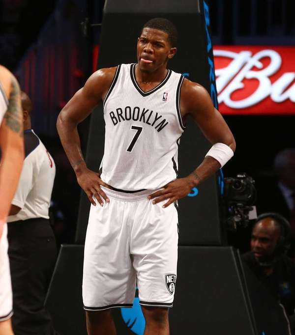 Joe Johnson looks on late in the game