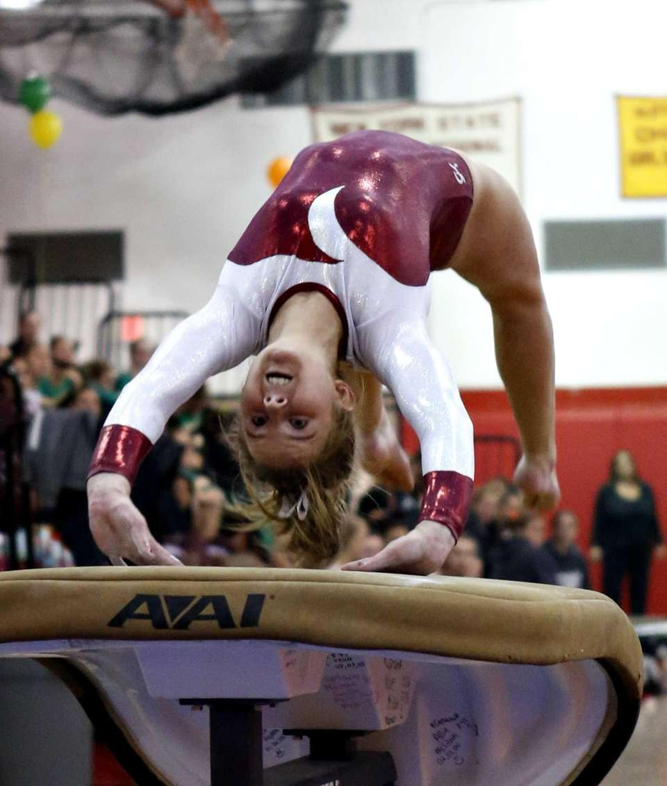 Bay Shore's Olivia O'Conner does a reverse mount