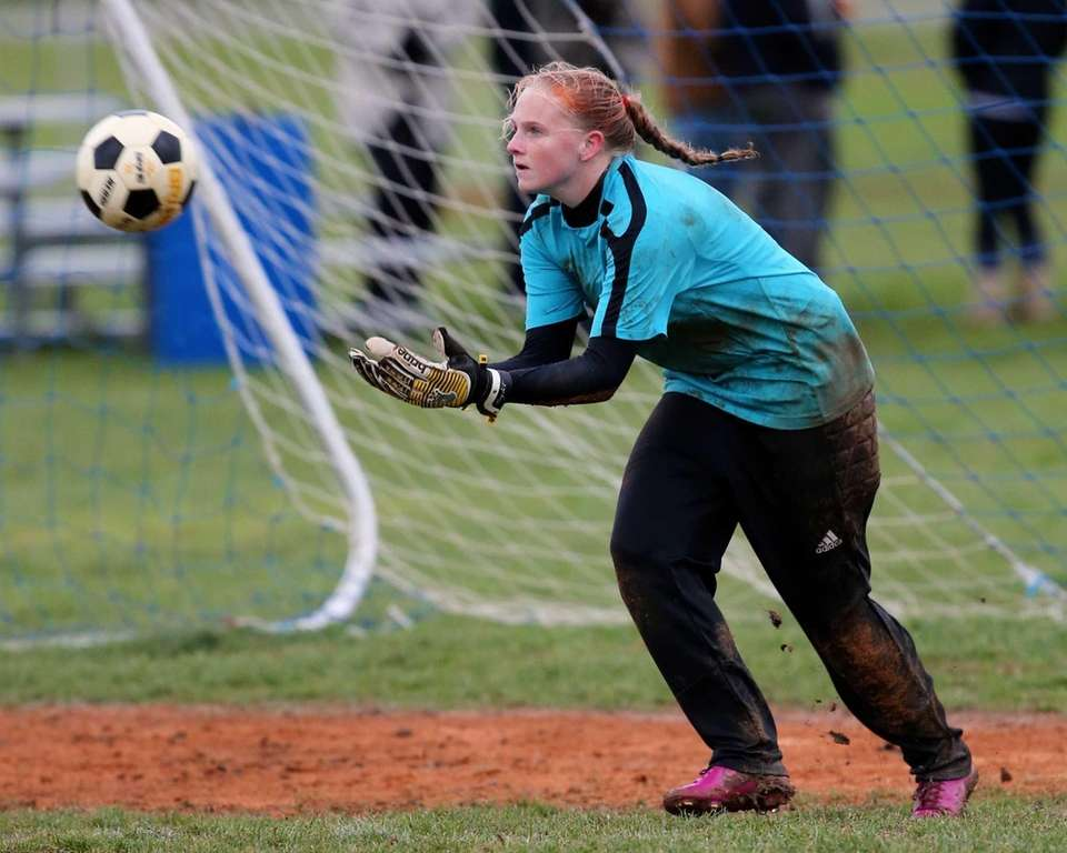 Babylon goalie Hannah McGlinchey makes a second half