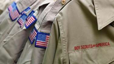 Boy Scout uniforms displayed Tuesday in the retail