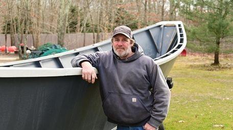 East Hampton fisherman Mike Havens, seen on Feb.