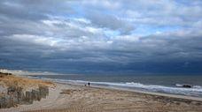 The beach on Beach Lane in Wainscott, the