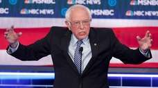 Democratic presidential candidate Sen. Bernie Sanders (I-Vt.) speaks