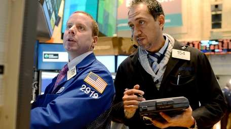 Robert Nelson II of Barclays, left, and Fady