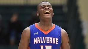 Deandre Blagrove of Malverne reacts as the Mules