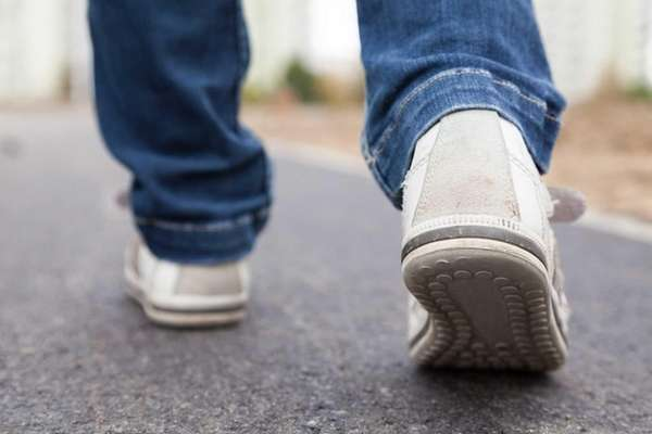 An older person's gait — or walking speed