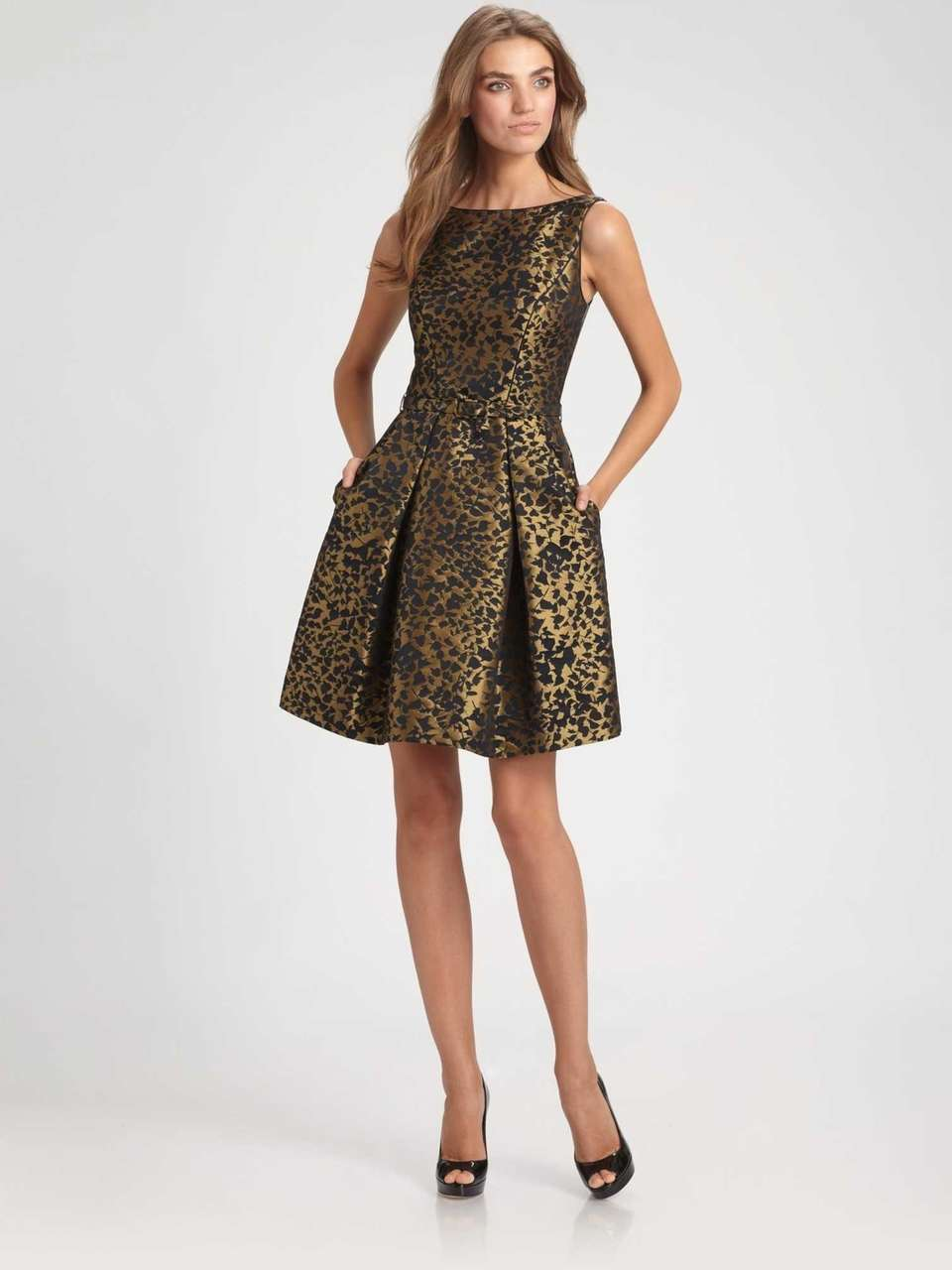 Lustrous brocade hints of old world Russian style