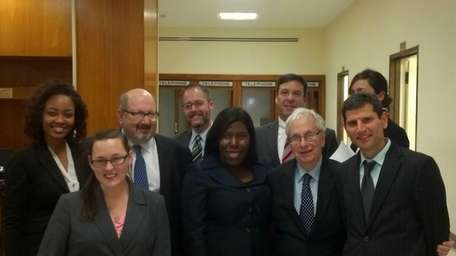 Hofstra University law students represented Nassau County voters