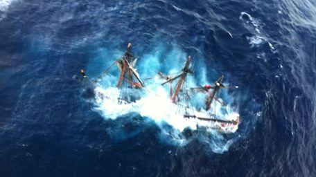 HMS Bounty sinks 90 miles off the coast