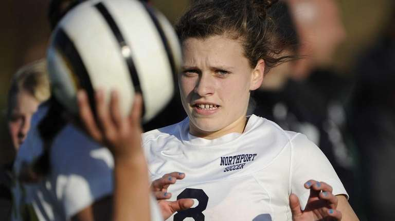 Northport's Kristin Desmond is seen on the field