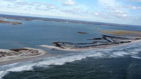 Breaches at the Moriches Inlet and Smith Point