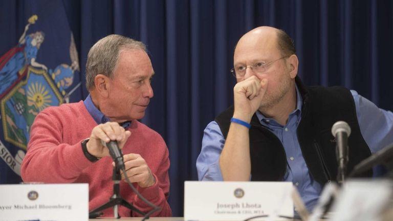 Mayor Michael Bloomberg and Joe Lhota, chairman &
