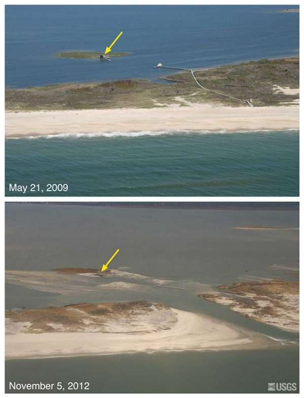 Oblique aerial photographs of Pelican Island and Fire