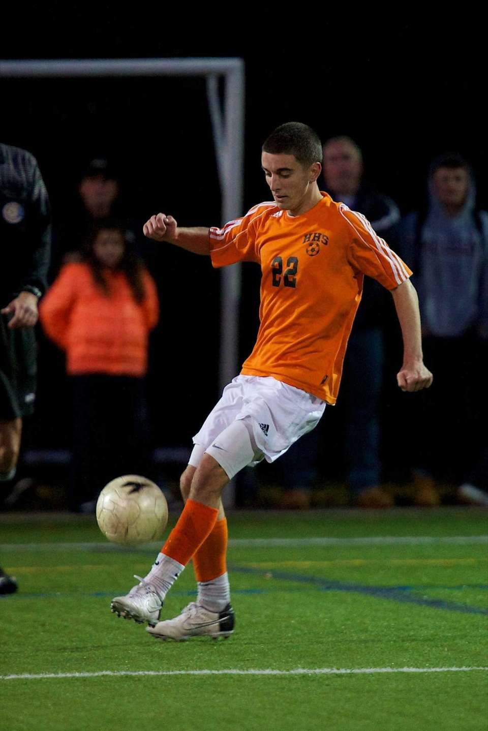 Hicksville's Chirstopher McMullan makes a play on the