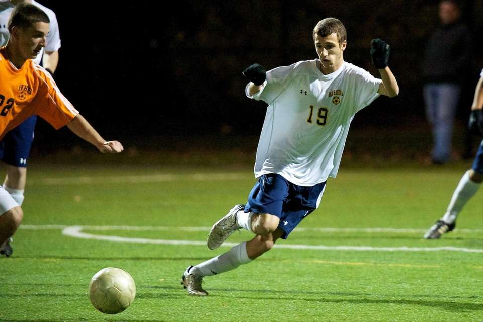 Massapequa junior Kevin Mazol plays tight defense to