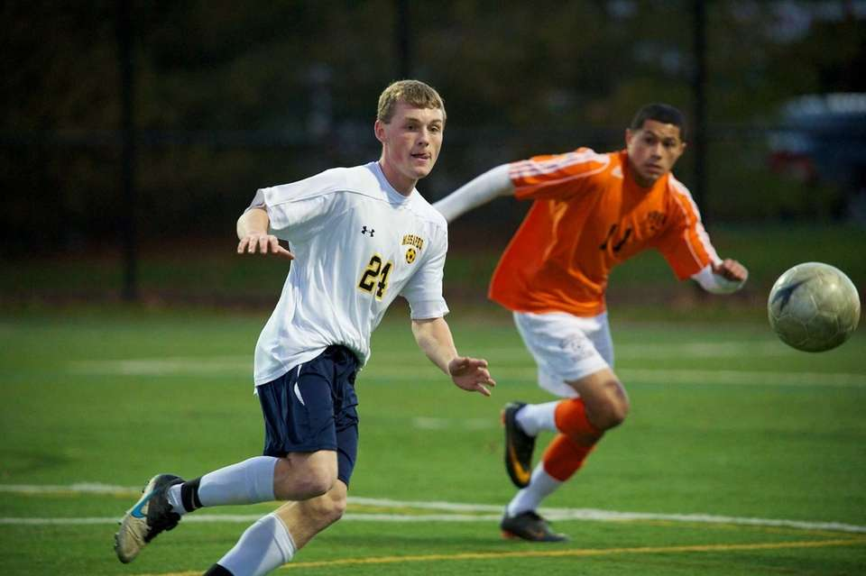 Massapequa Senior Francis Merklin makes a play on