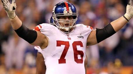 Chris Snee celebrates against the New England Patriots