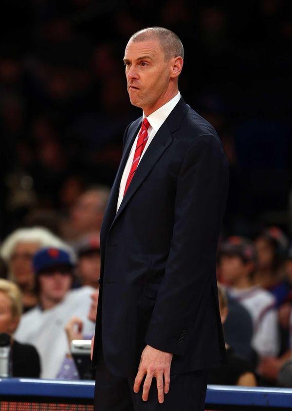 Dallas Mavericks head coach Rick Carlisle watches his