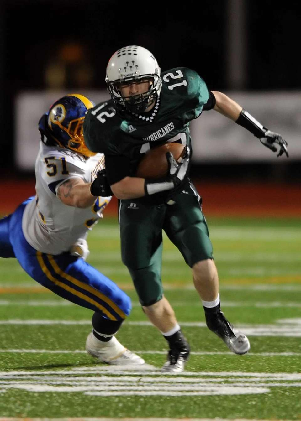 Westhampton's Brian Corrigan breaks to the outside. (Nov.