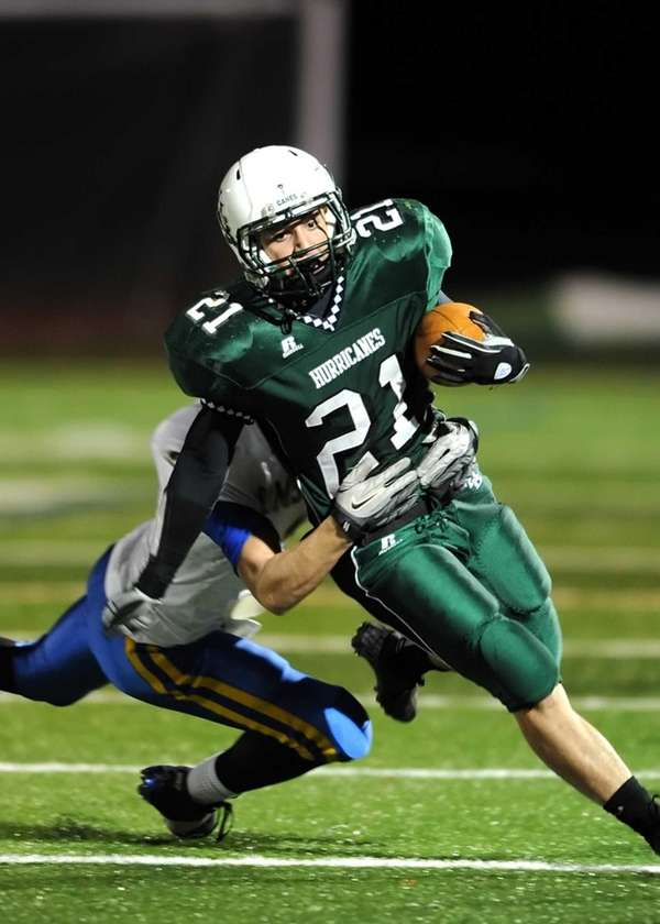 Westhampton's Evan Gagne breaks to the outside during