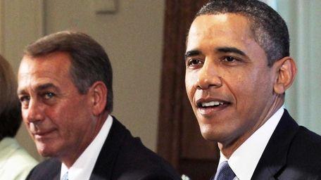 President Barack Obama speaks as Speaker of the