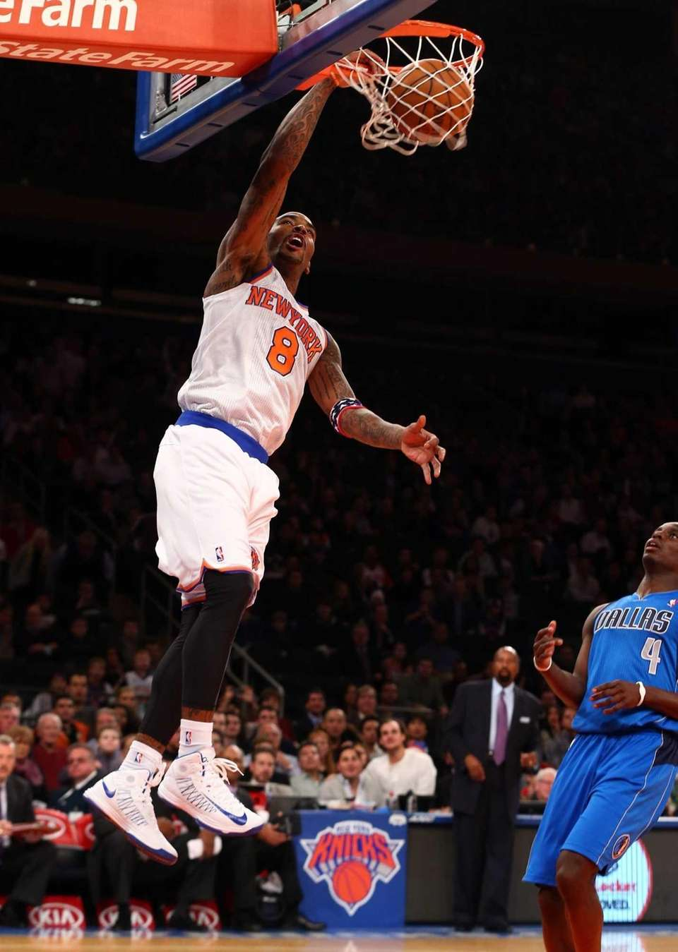 J.R. Smith dunks the ball in the first
