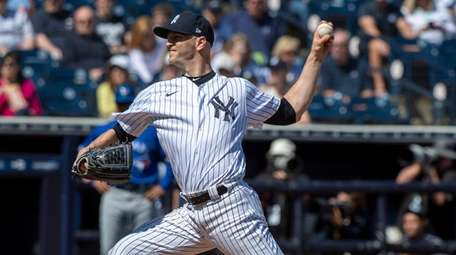 Yankees' starting pitcher J.A. Happ against the Toronto
