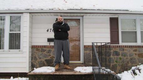 Joseph Cammarata at the house where he lives