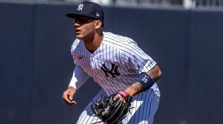 Yankees' shortstop Gleyber Torres in the first inning
