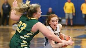 Northport's Kelly Mclaughlin drives by Ward Melville's Morgan