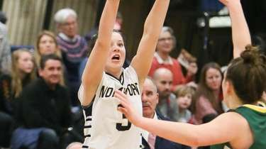 Northport's Sophia Yearwood puts up a three pointer