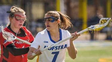 Alyssa Parrella of Hofstra stays calm despite pressure