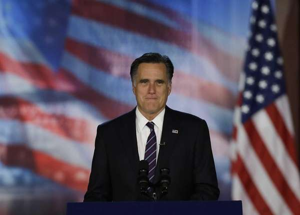 Republican presidential candidate Gov. Mitt Romney arrives to
