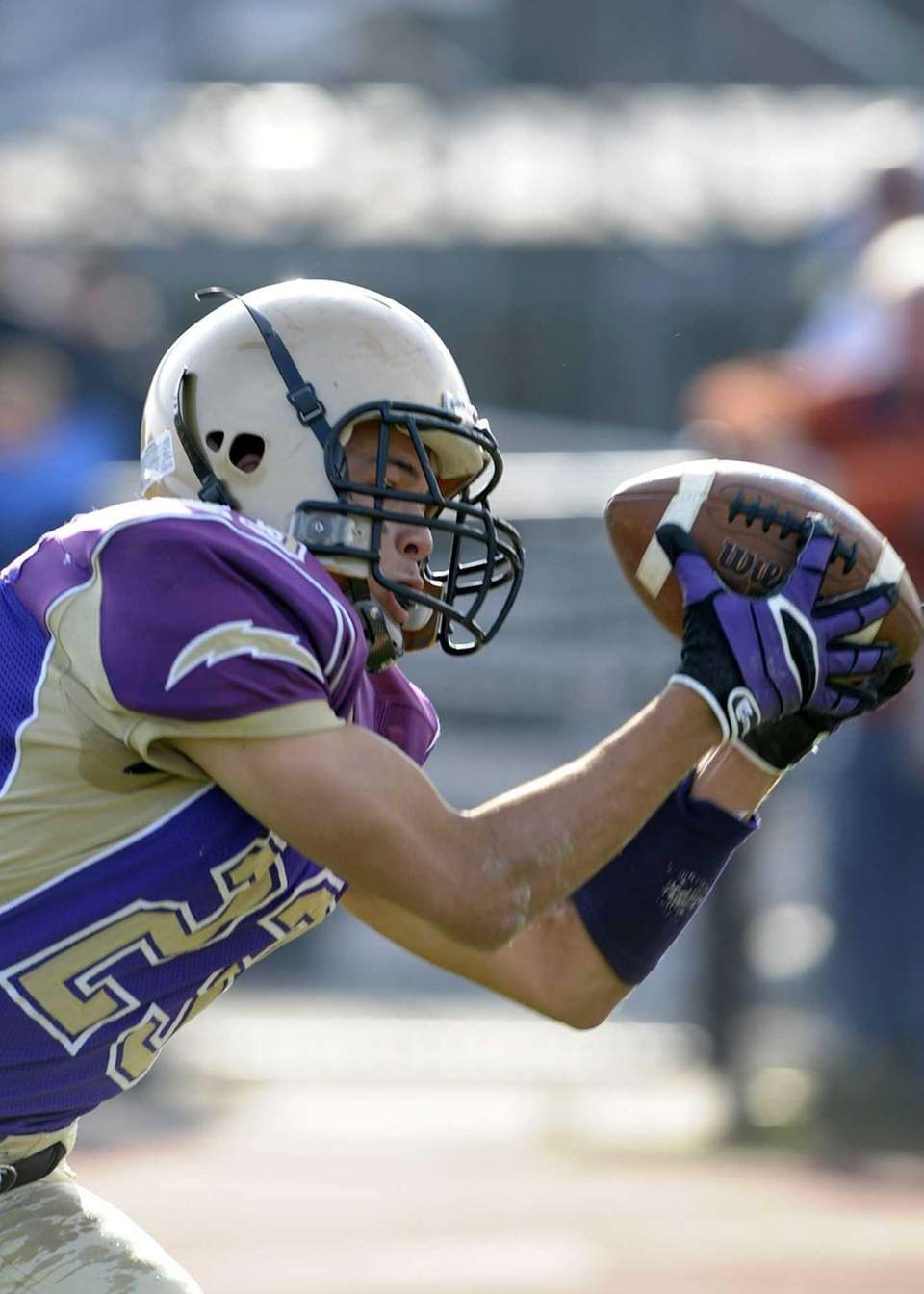 Sayville's James Giattino makes a catch for a
