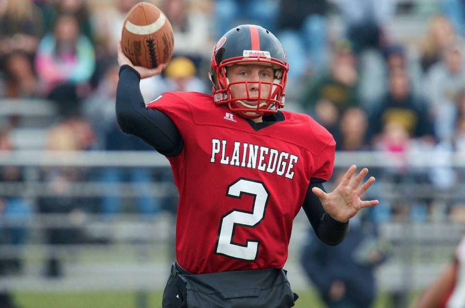 Plainedge quarterback Nick Frenger looks to make a