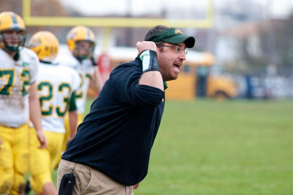 Lynbrook coach Stephen Lo Cicero states his argument