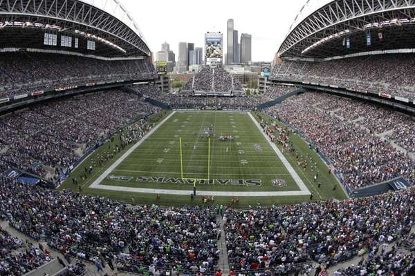 Qwest Field before a Seahawks game.