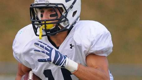 Massapequa High School wide receiver Nick Balzano races