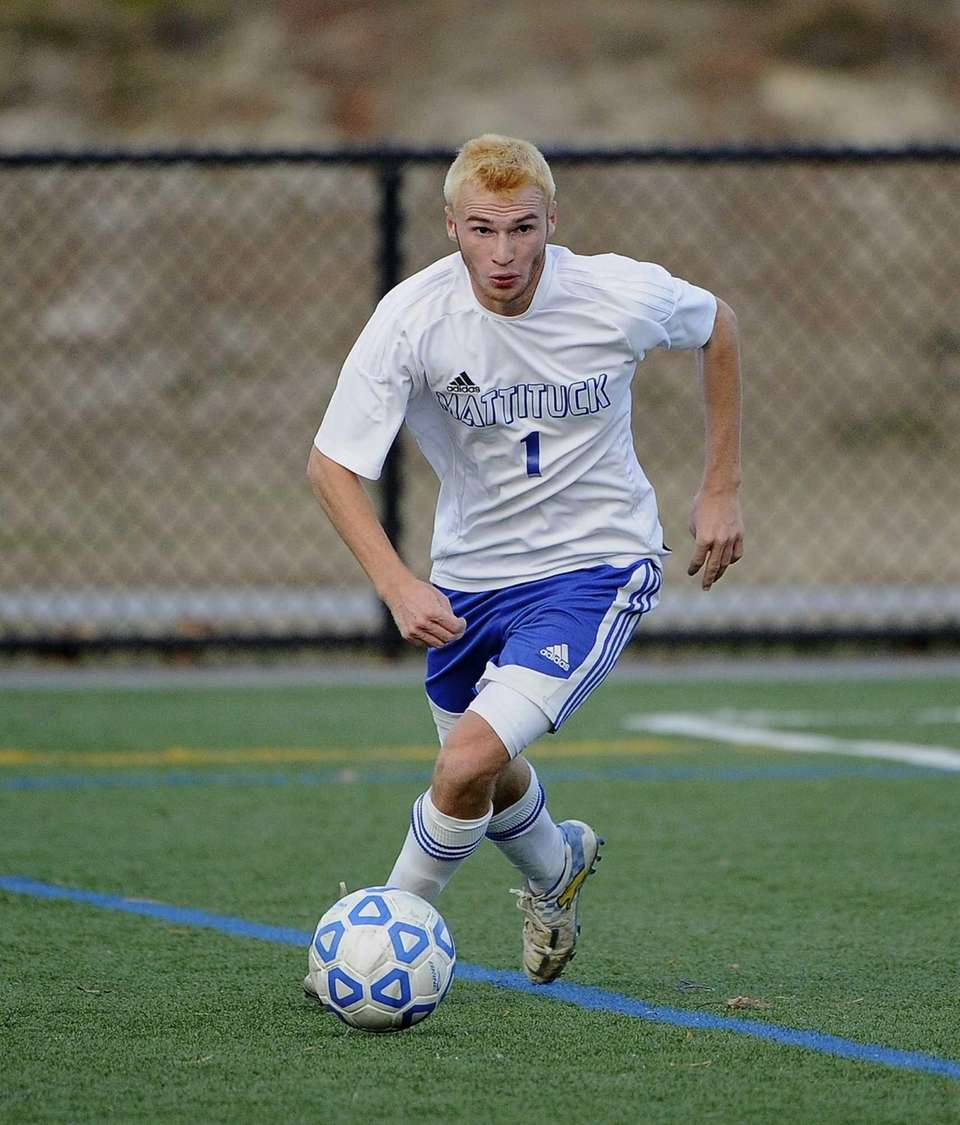Mattituck's Stephen Urwand controls the ball against Center