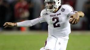 Quarterback Johnny Manziel of the Texas A&M Aggies