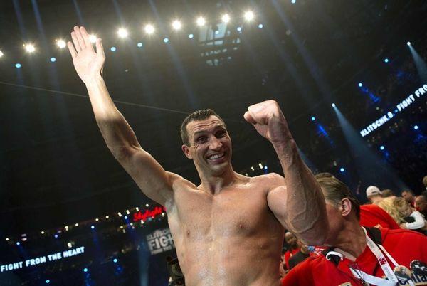 Defending WBA, IBF and WBO heavyweight boxing world