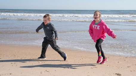 Joseph Toscano, 4, and his sister Brooke, 7,
