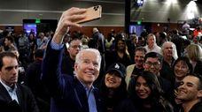 Former Vice President Joe Biden came in second