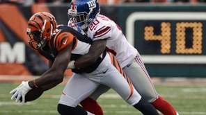 Cincinnati Bengals wide receiver Mohamed Sanu is tackled